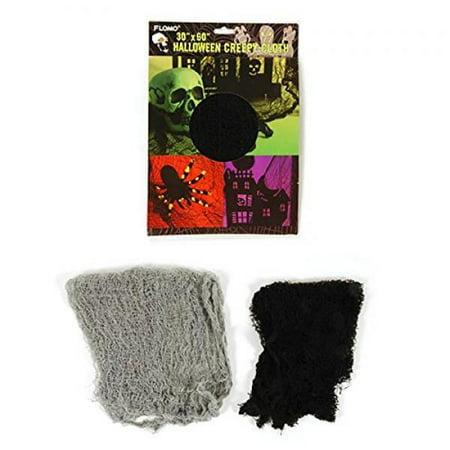 Freaky Fabric Halloween Decoration 30 X 60 (Black)
