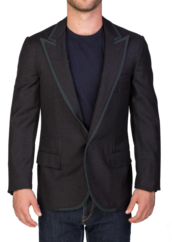 Lanvin Men's Wool One-Button Sportscoat Jacket Grey Green by Lanvin