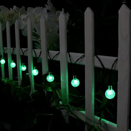 Sunnydaze 20-Foot Outdoor Hanging Solar Globe String Lights LED 30-Count, - Glove Led
