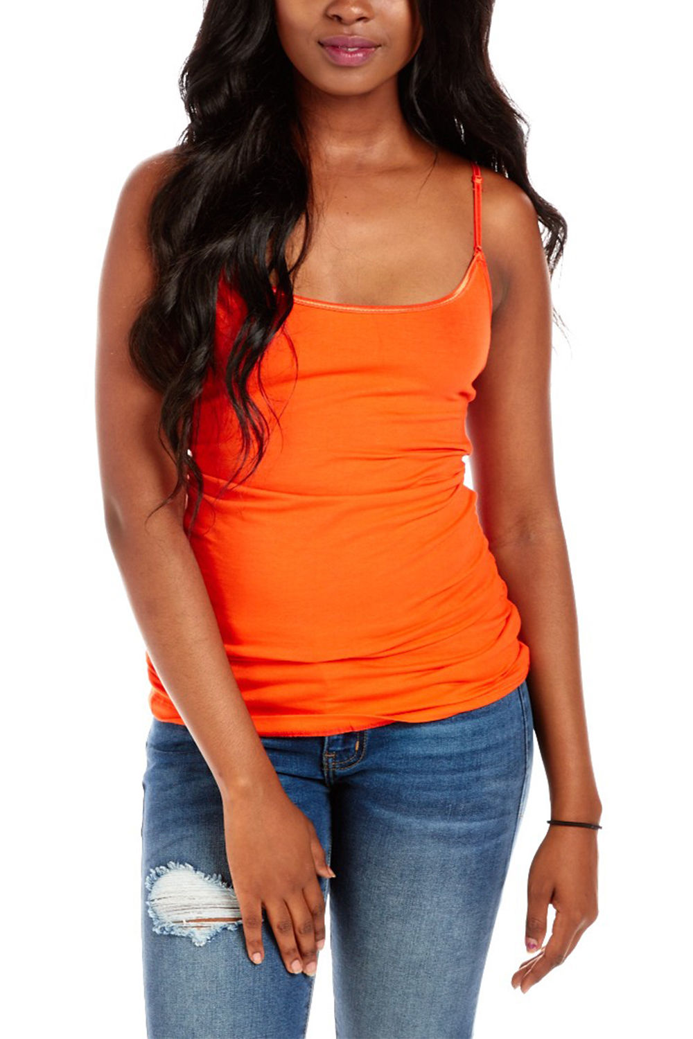 Bozzolo Women Ladies Spaghetti Tank Top rt1002 (S, Jade)