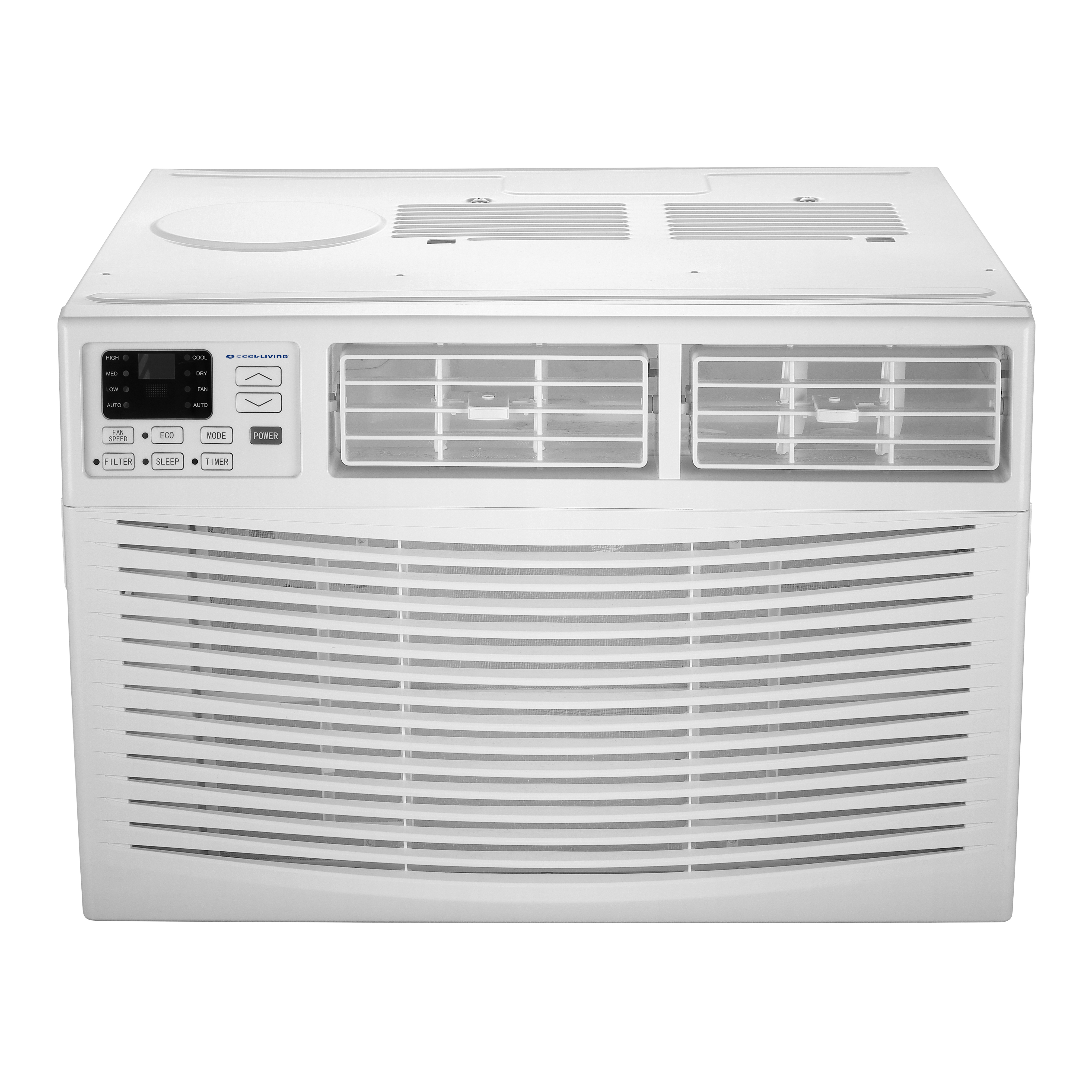 Cool Living 10,000-BTU Window-Mounted Room Air Conditioner with Digital Display and Remote, White