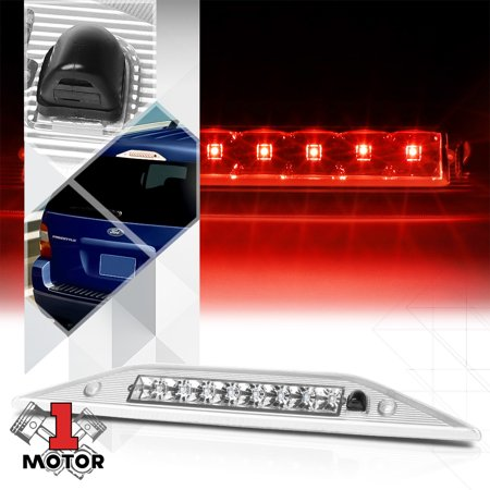 Chrome/Clear LED Third[3rd]Brake Light+Washer Nozzle for 05-09 Freestyle/Taurus 06 07 08