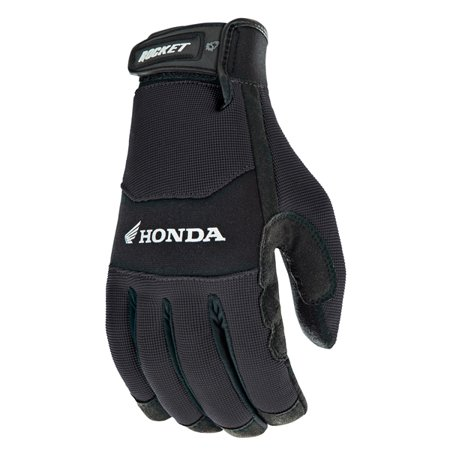 H2o Motorcycle Gloves - Joe Rocket Honda Crew Touch Mens Black Textile Motorcycle Gloves