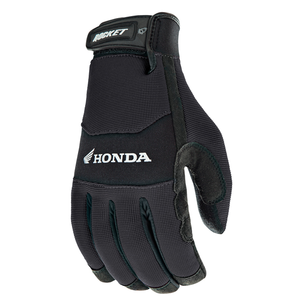 Joe Rocket Honda Crew Touch Mens Black Textile Motorcycle Gloves