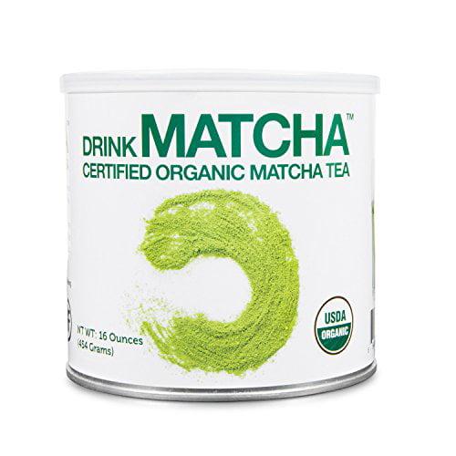DrinkMatcha - Matcha Green Tea Powder - USDA Organic - 100% Pure Matcha Green tea Powder - Nothing added (16 Ounce)