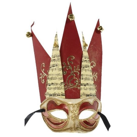 Jester Adult Mask with Bells - Jester Mask