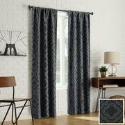 Sun Zero 2-Pack Kenzie Trellis Jacquard Blackout Rod Pocket Curtain Panel Pair