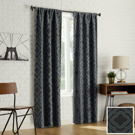 Sun Zero 2-pack Kenzie Trellis Jacquard Blackout Rod Pocket Curtain Panel Pair