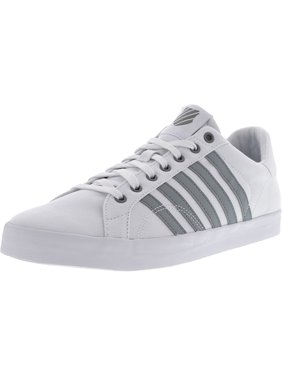 f2d7fb4fcb Product Image K-Swiss Men s Belmont So T White   Neutral Grey Ankle-High  Canvas Fashion