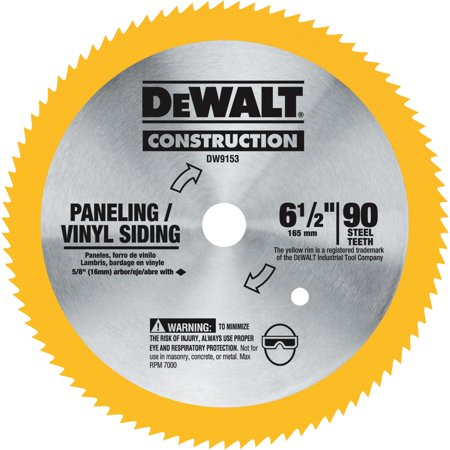 Dewalt DW9153 6-1/2 in. 90 Tooth Circular Saw Blade