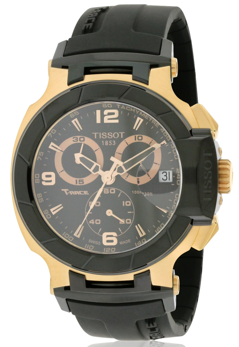 T-Race Rose Gold Chronograph Mens Watch T0484172705706