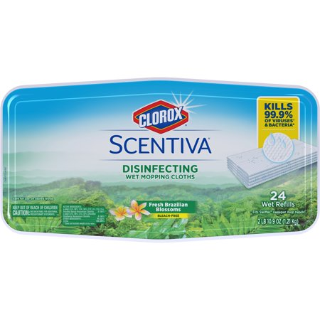 - Clorox Scentiva Disinfecting Wet Mopping Cloths, Fresh Brazilian Blossoms, 24 ct