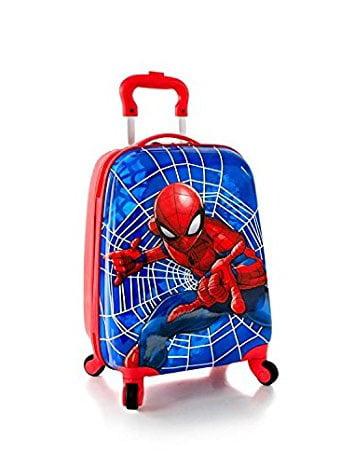 Spider Man Kids Hardside Spinner Luggage - 18 Inch [ Blue ]