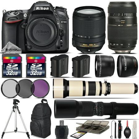 Nikon D7100 DSLR Camera + 18-140mm VR Lens + 70-300mm + 650-1300mm + 500mm Lens