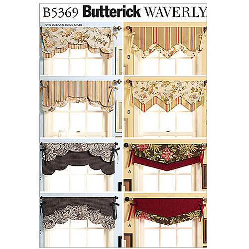 Butterick Pattern Fast and Easy Reversible Valances, All Sizes
