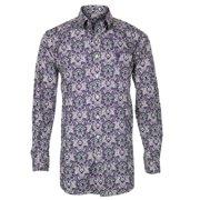 Cinch Western Shirt Mens Long Sleeve Button Cream Purple MTW1104139