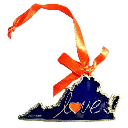 Virginia Love Metal Christmas Tree Ornament (Love Tree)