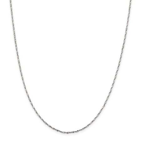 925 Sterling Silver 1.6mm Twisted Serpentine Chain Necklace 24 Inch Pendant (Boch Twist Alea Charm)
