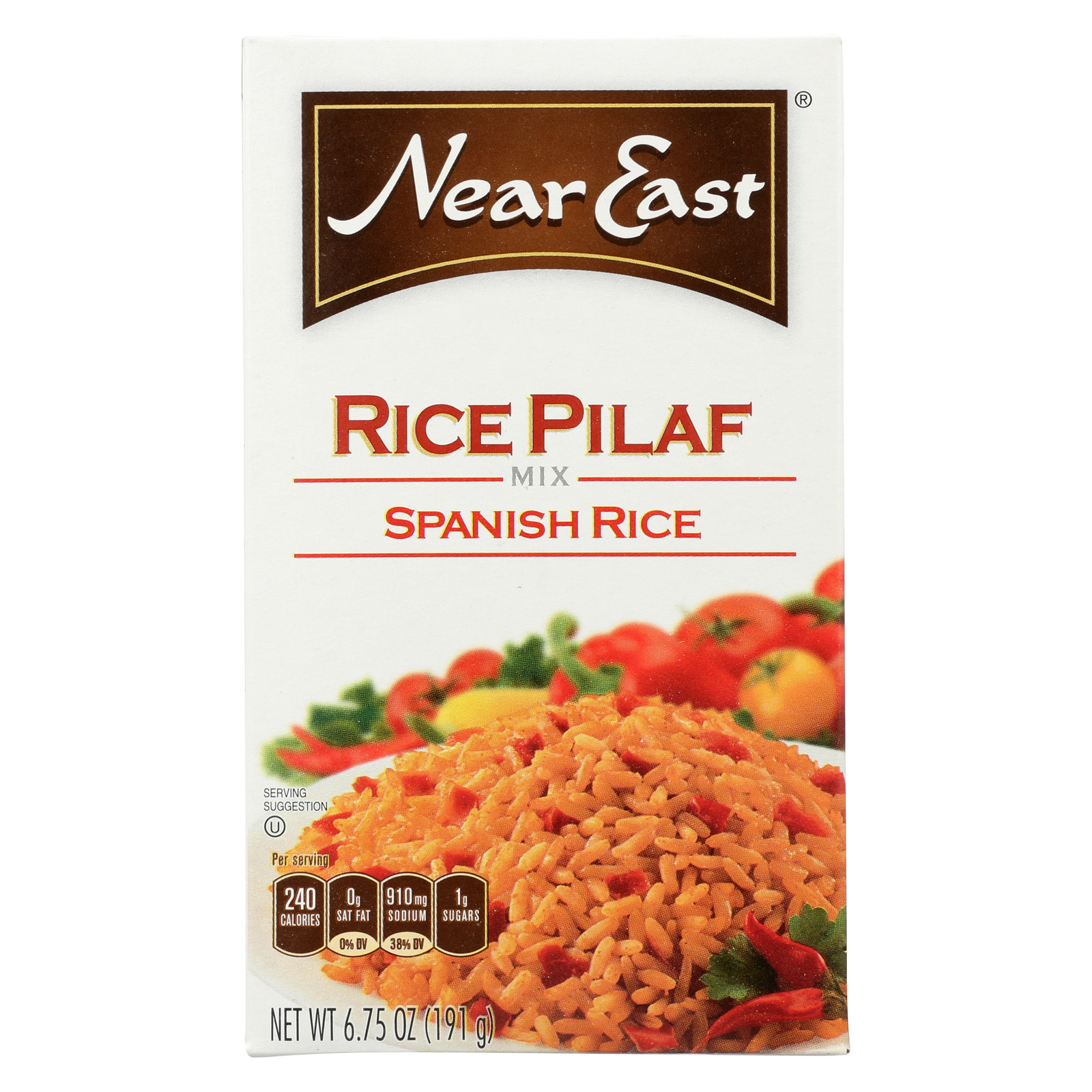 Near East Rice Pilaf Rice - Spanish - Case of 12 - 6.75 oz.