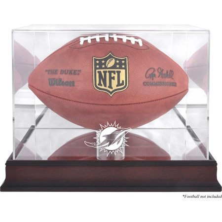 Miami Dolphins Mahogany Football Display Case with Mirror Back