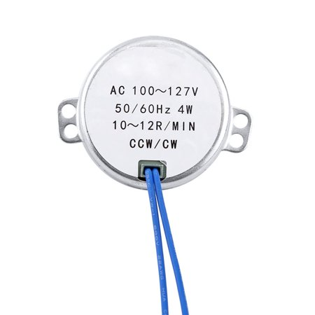 Tbest Rotary Motor,Synchronous Motor,1pc AC 100-127V 4W Synchronous Motor 50/60Hz CCW/CW Geared Motor