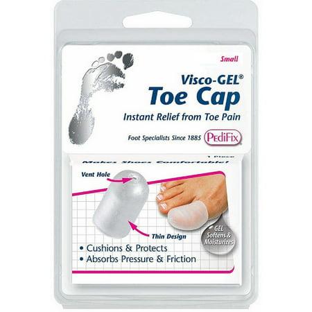 Pedifix Toe Cap (PediFix Visco-Gel Toe Cap, Small 1 ea (Pack of 2))