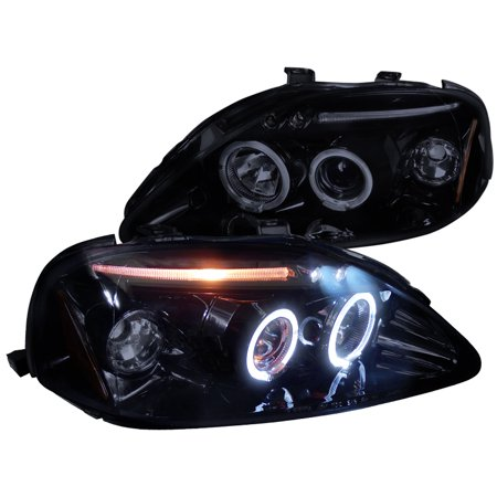 Spec D Tuning 1999 2000 Honda Civic Led Projector Headlights 1999 2000 Left Right