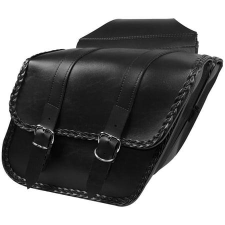 Road Braided Compact - Willie & Max 58707-20 Compact Braided Slant Saddlebag