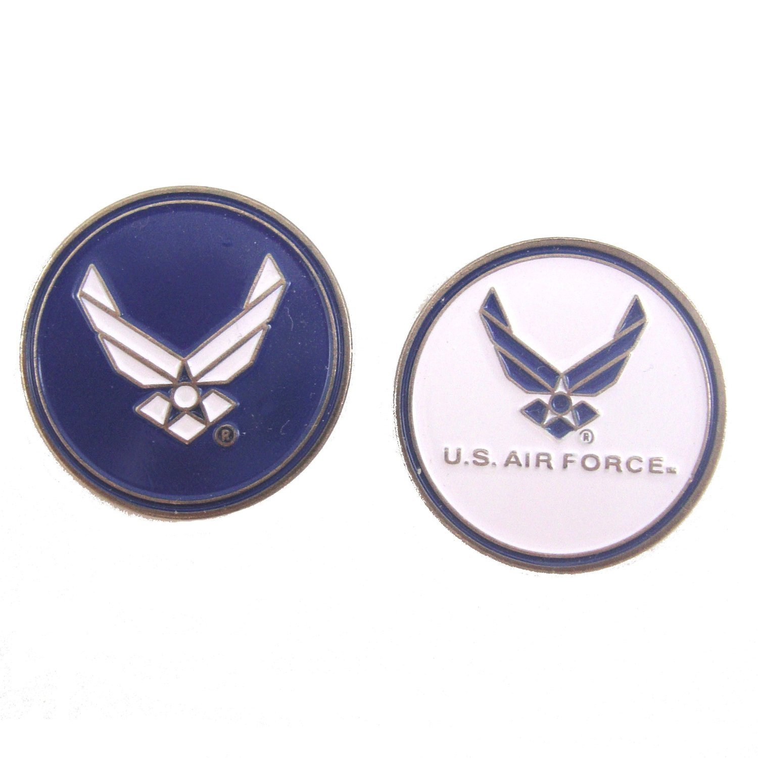 U.S. Air Force (USAF) Double-Sided Golf Ball Marker, U.S. Air Force Golf Ball Marker By Waggle Pro Shop,USA