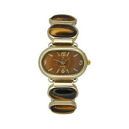 Charles-Hubert- Paris  Womens Premium Collection Watch - Polished Gold with Oval Shape ()