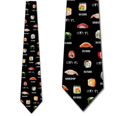 Sushi Tie Mens Food Necktie by Three Rooker