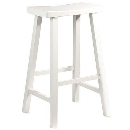Saddle Seat 29 Quot Barstool White Walmart Com