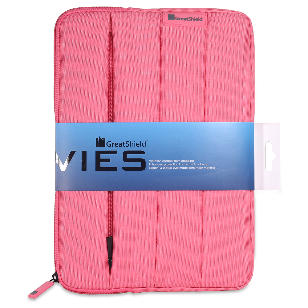 "greatshield vies [travel friendly | shockproof] neoprene sleeve case for 9"" to 10.6""-inch tablets - fits apple ipad / air, galaxy tab, lg g pad, asus tablets - pink"