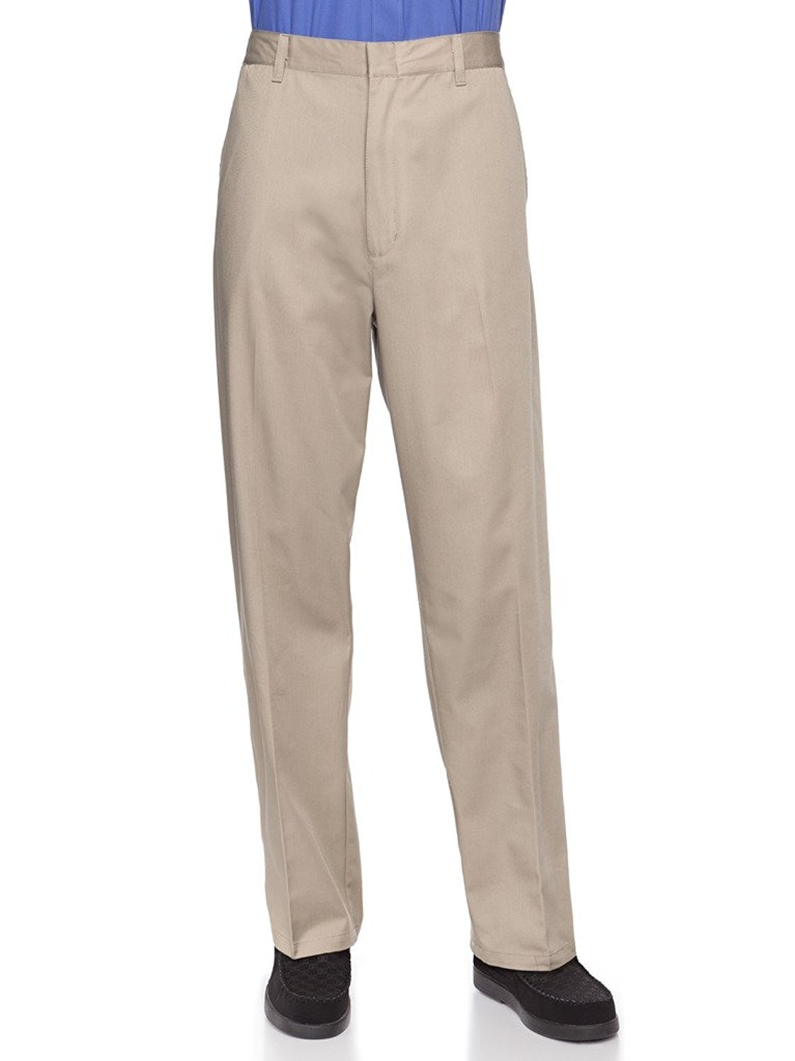 Half Elastic Flat Front Men's Slacks Big Sizes Available