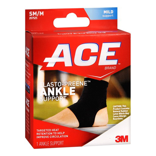 Ace Elasto-Preene Ankle Support Size Of Small/Medium, # 207525  - 1 Ea