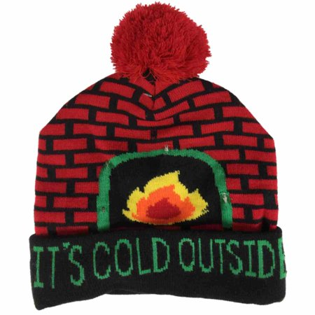 a4bd69aab8091 HOLIDAY - Mens Light Up It s Cold Outside Beanie Christmas Holiday ...