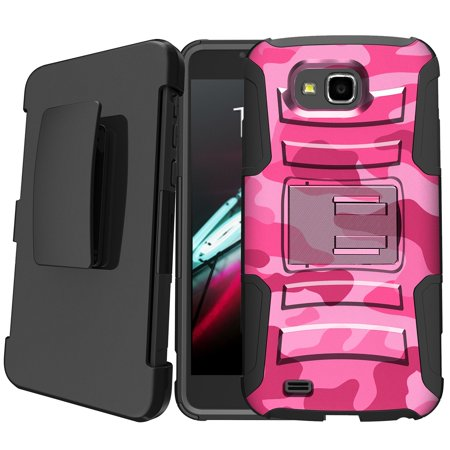 first rate f13cf 90604 LG X Venture | LG X Calibur | LG V9 Holster Case [Camo Case][Camouflage  Phone Case Series] w/ Built-In Kickstand + Bonus Holster - Pink Camo