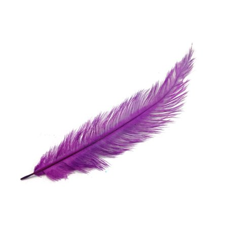- 20 Pieces - Purple Mini Spads Ostrich Chick Body Feathers