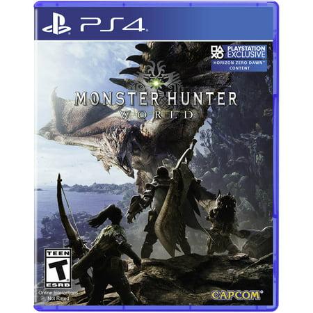 Capcom Monster Hunter World, Sony, PlayStation 4, (Monster Hunter 3 Best Weapon)