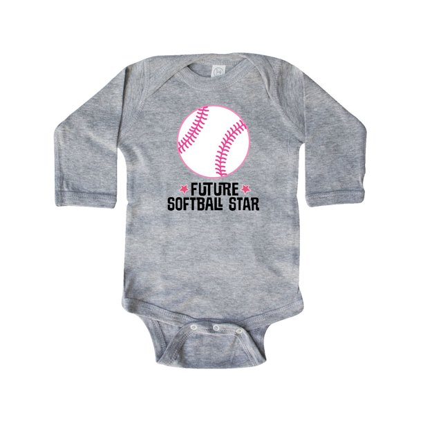 Future Softball Star Sports Long Sleeve Creeper