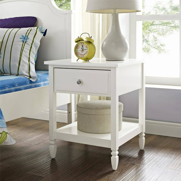 Better Homes and Gardens Lillian Nightstand, White