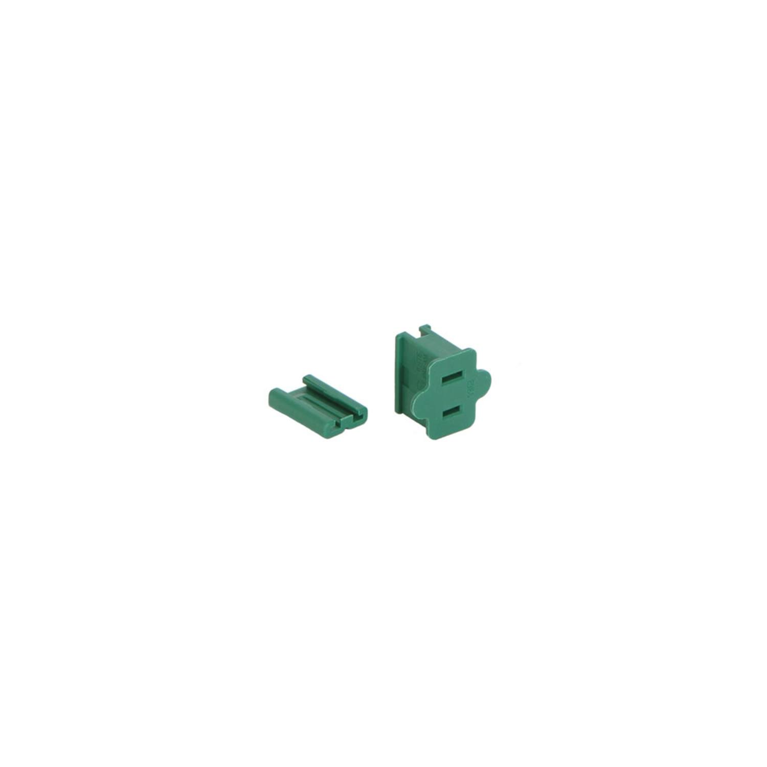 Green Female Quick Zip Plug For Spt1 18 Gauge Wire 8 Amps Wiring