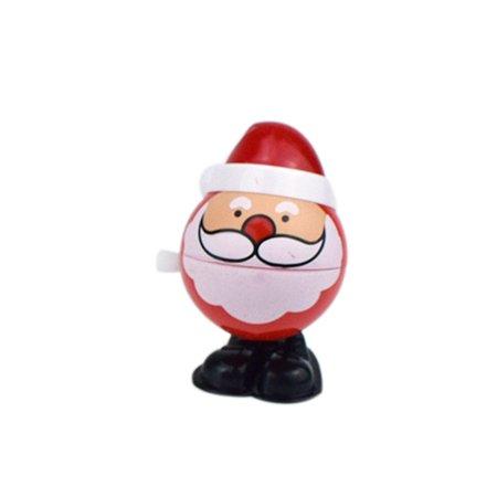Mosunx Christmas Clockwork Gift Wind Up Santa Claus Bounce Toy Educational Toys (Clockwork Toy)