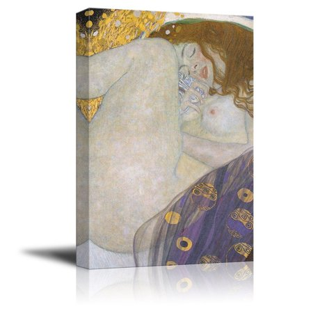 wall26 Canvas Wall Art - Danae by Gustav Klimt - Giclee Print Gallery Wrap Modern Home Decor Ready to Hang - 24x36 inches