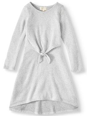 Btween Long Sleeve Cozy Sweater Knit Hi Dress (Big Girls)