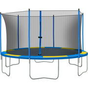Backyard Trampoline, New Upgraded 14-Feet Kids Outdoor Trampoline with Safety Enclosure Net Jumping Mat and Spring Cover Padding, Heavy-Duty Round Backyard Bounce Jumper Trampoline for Outdoor, L3759