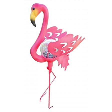 Creative Motion 13367 37 X 11 Pink Flamingo Garden Stake Gl Le Solar Light