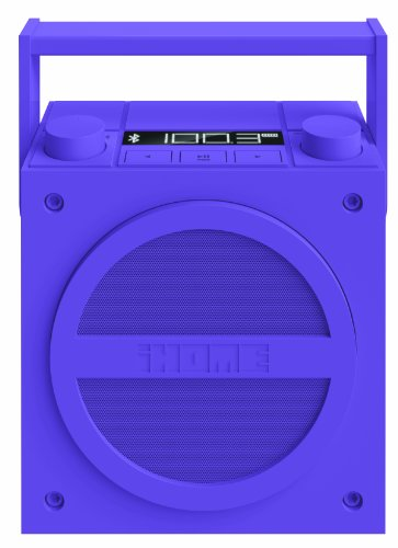 iHome iBT4UC Bluetooth Rechargeable Boombox with FM Radio (Purple) by iHome