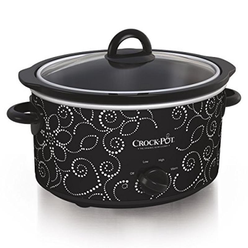 Crock-pot Scv400-pt: Manual Slow Cooker, Heart & Flower Dotted Patte