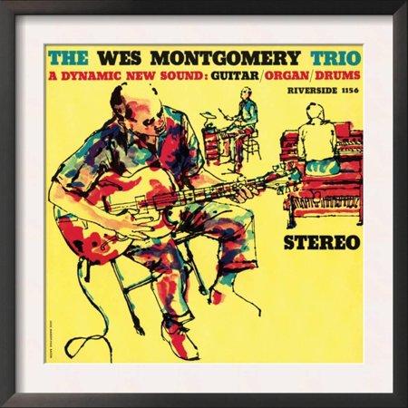 Wes Montgomery Trio - A Dynamic New Sound Framed Art Print Wall Art  - (Wes Montgomery Trio)